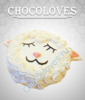 """Детский торт """"Новогодняя овечка"""""""