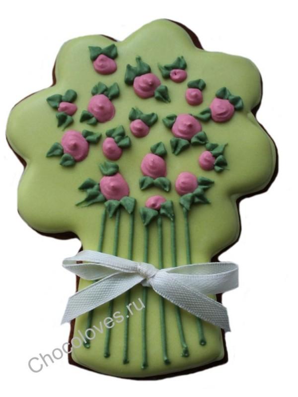"""Имбирный пряник """"букет розовых роз"""""""