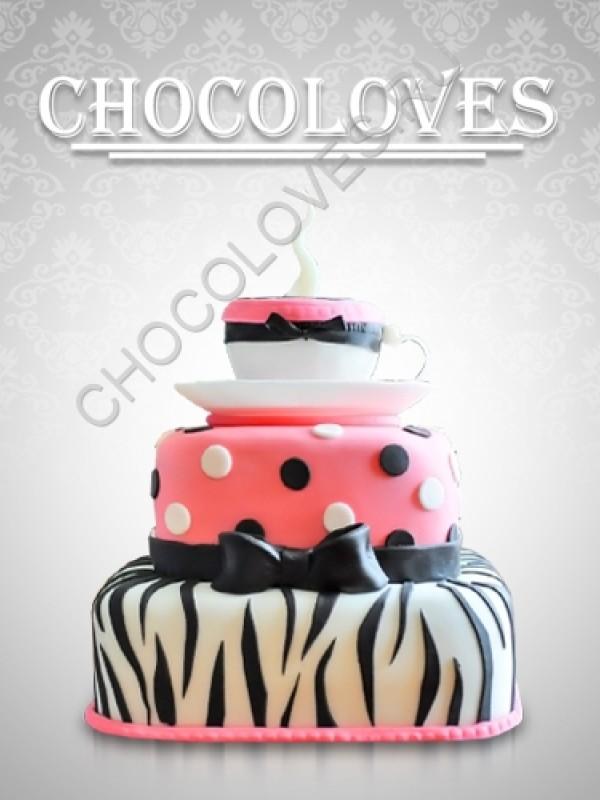 Оригинальный торт с чашкой