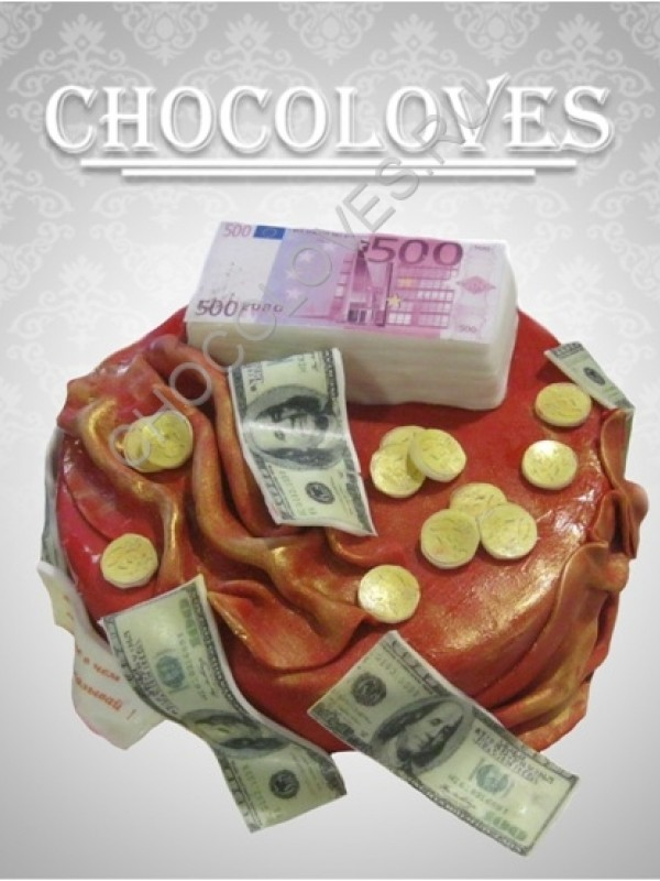 "Торт для мужчин ""Куча денег"""