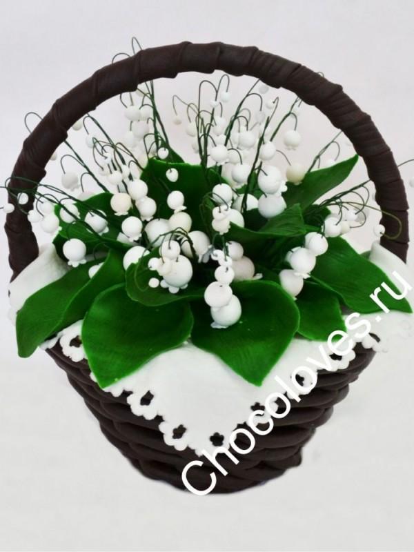 Шоколадный букет ландышей