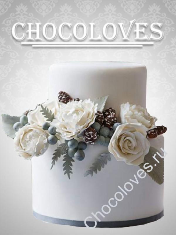 """Свадебный торт """"Зимняя сказка"""""""