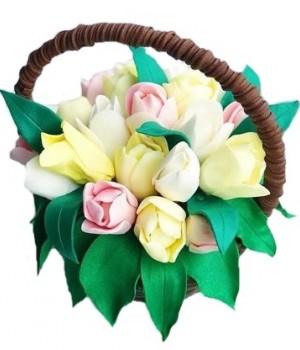 Шоколадный букет с тюльпанами