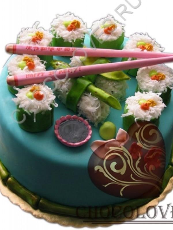 """Авторский торт """"Суши"""""""