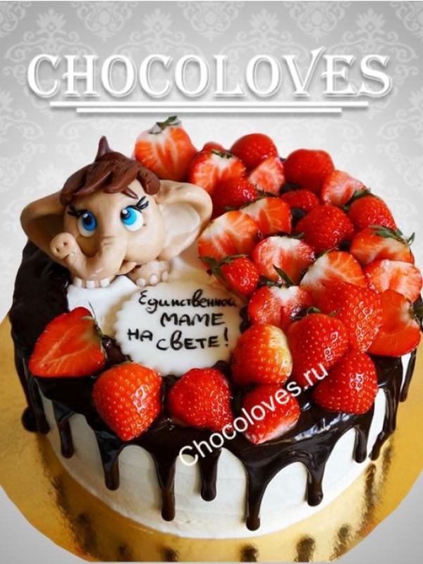 Детский торт без мастики с фигуркой