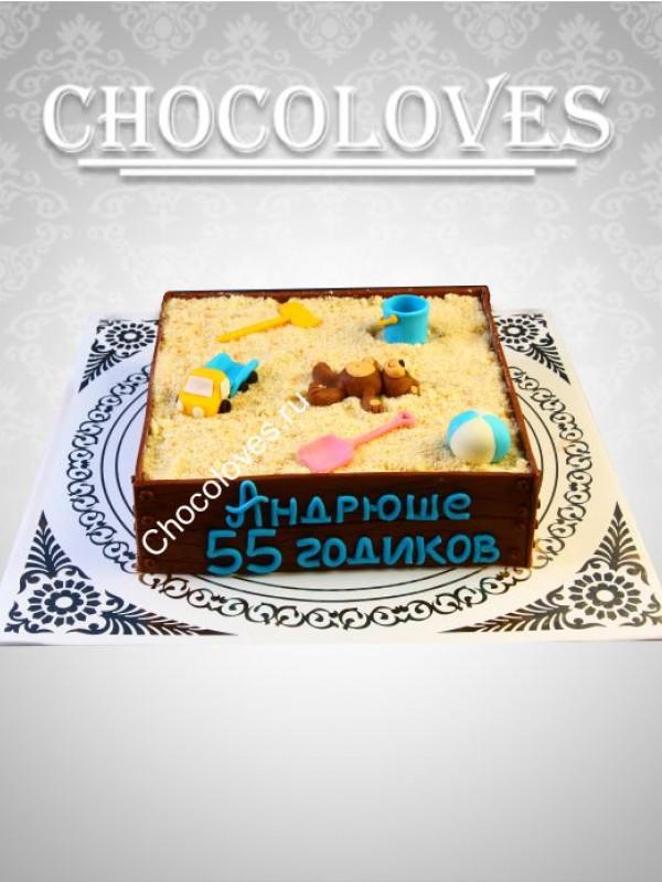 Авторский торт в виде песочницы