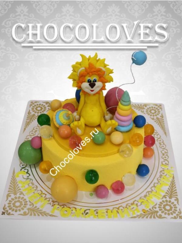 Детский торт с львенком