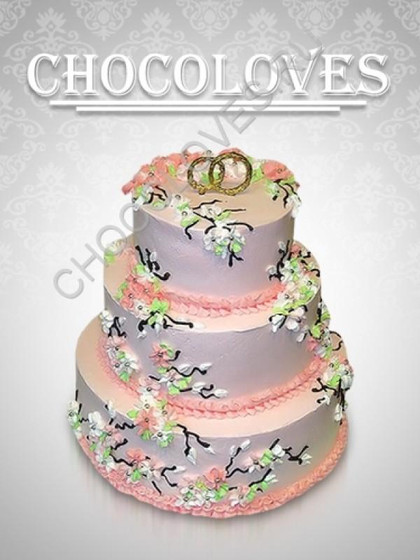 """Свадебный торт """"свадебные кольца"""""""