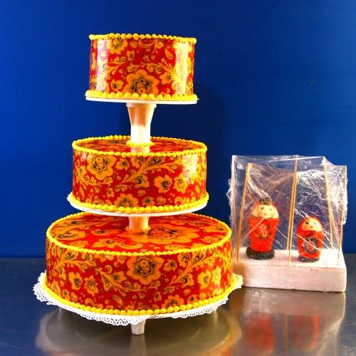 Авторский торт хохлома