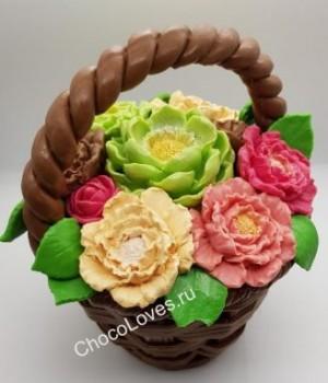 Букет с цветами из бельгийского шоколада