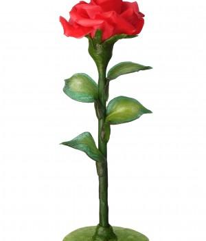 Красная роза из карамели