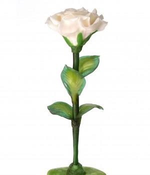 Белая роза из карамели