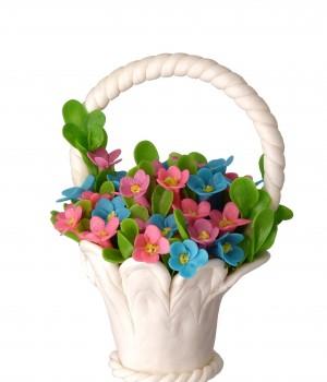 Карамельная корзина с полевыми цветами